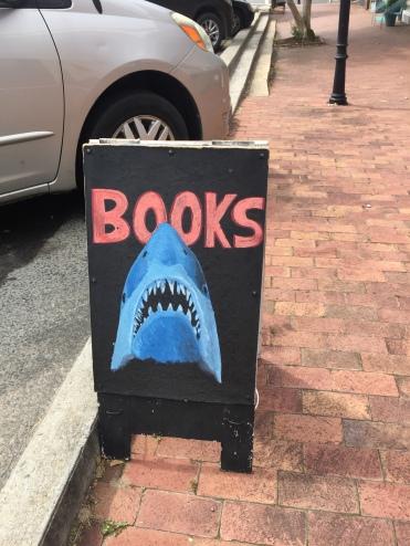 Circle Bookstore Jaws Sign