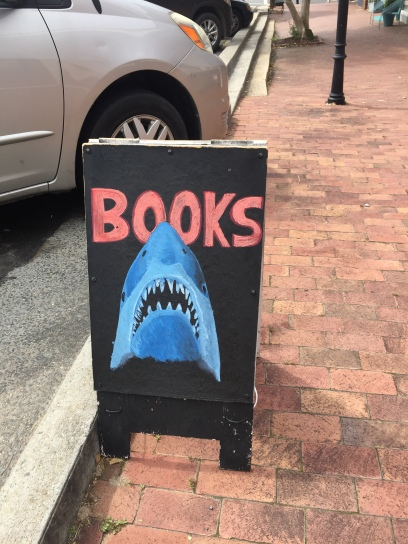 Circle Bookstore Jaws Sign