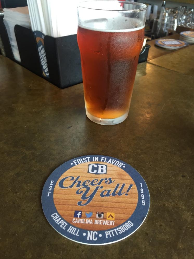 Carolina Brewery Coaster and Beer