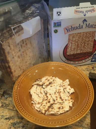 Crumble dry matzo
