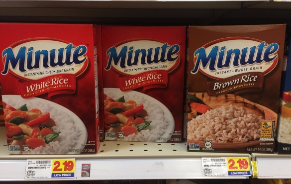 Nope. Also, brown Minute Rice?