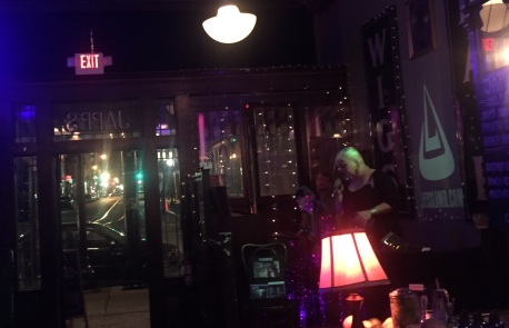 Jess Lamb band with guest singer and a view of 12th Street