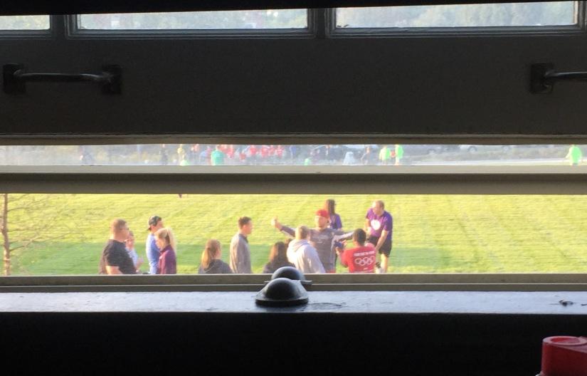 kick ball outside my window