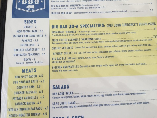 Better pictures of menus have been taken!