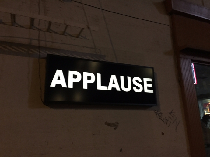 The applause light dimmed until people walked by and applauded...which they did with gusto!