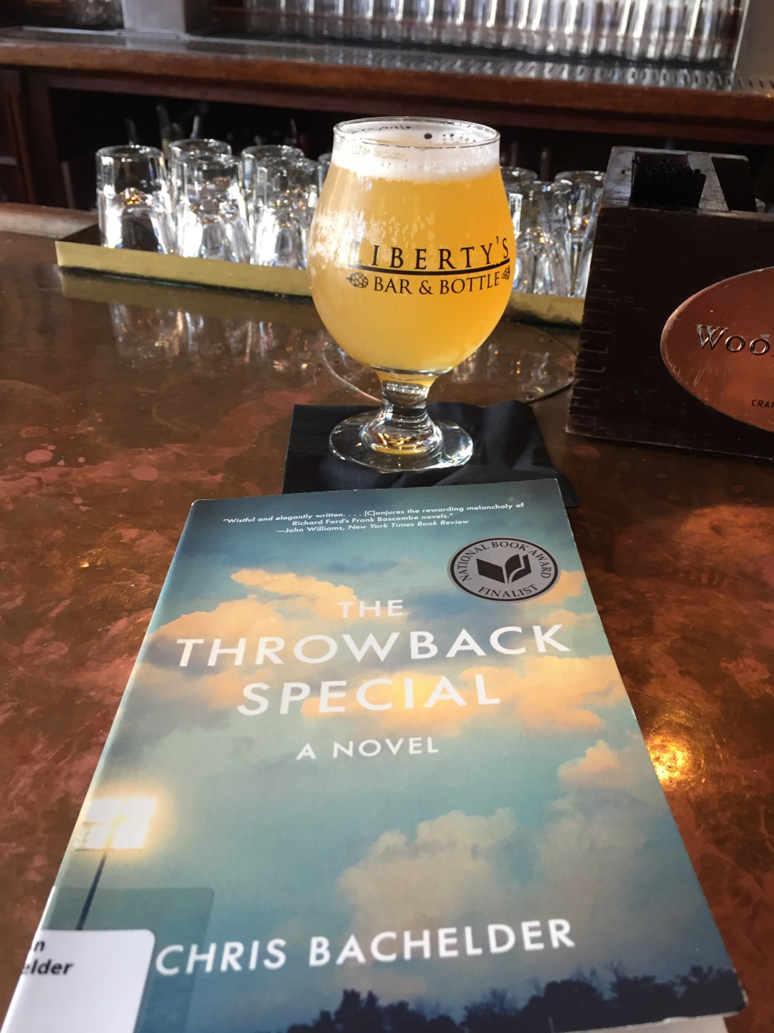 book and a beer throwback