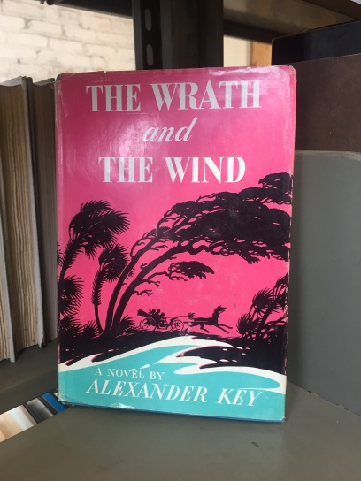 "Google Books describes The Wrath and The Wind as: ""Historical romance of Florida in the 1840's, during the slave-running days."" Also, this book has not aged well."