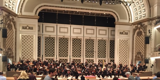 CSO warming up for Mahler's Titan Symphony