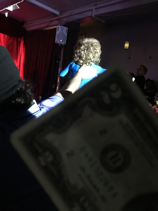 I had a two dollar bill in my pocket, and I thought who better to appreciate a $2 bill than a drag queen!!!
