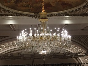 Obligatory picture of the chandelier at near eye level