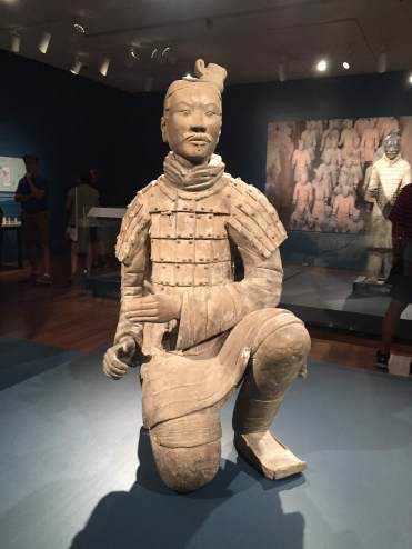 An archer kneeling.