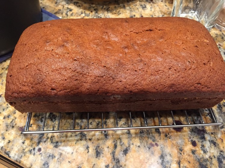 A dark banana bread with a pinch of allspice