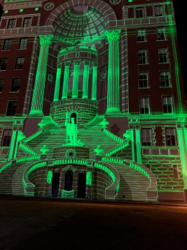 Cincinnatus namesake mural - light mapping