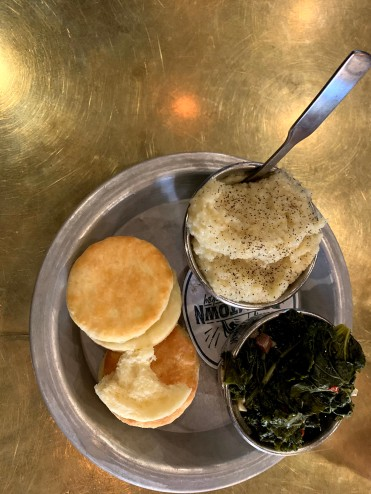 Grits and Greens...and, of course, a couple biscuits.
