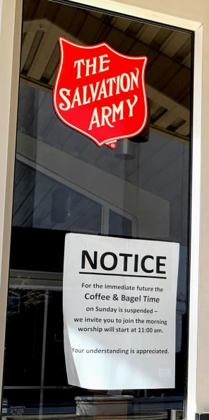 Salvation Army cancels Coffee and Bagels