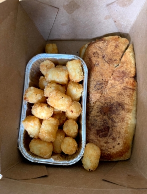 The Cubano didn't photograph well, but look at those tots!