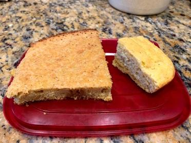 Skillet corn bread vs. cakier corn bread